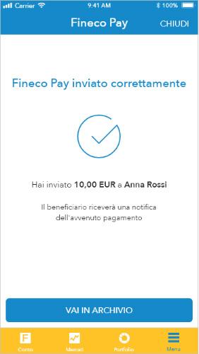 Fineco Pay. La semplicità di trasferire denaro. - Fineco Bank