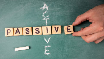 It doesn't have to be active vs passive investment