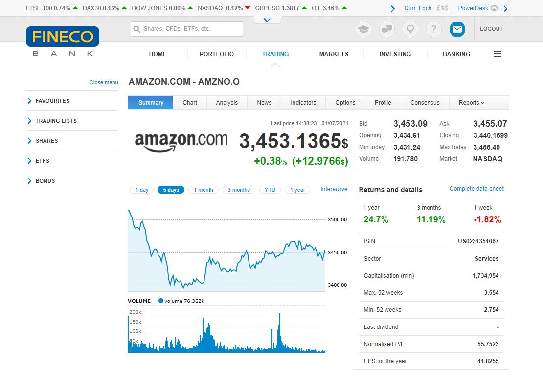 Web Trading Fineco