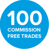 100 COMMISSION FREE TRADES